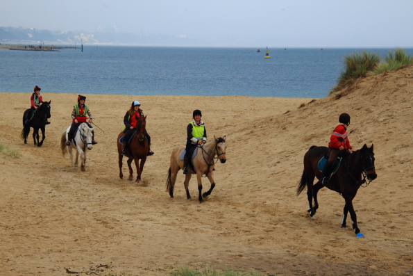 Riding on Studland beach in Dorset