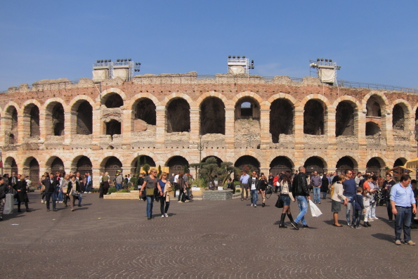 The Arena in Piazza Bra in Verona