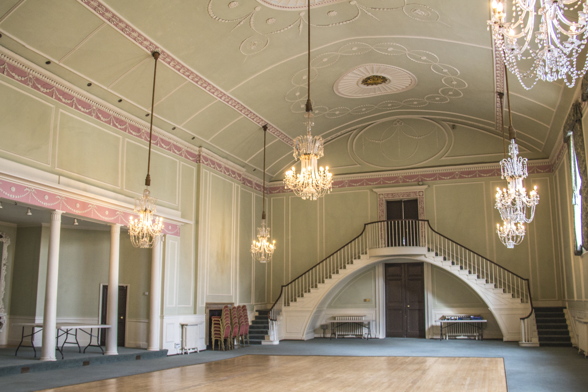 The ballroom in the Athenaeum in Bury St Edmunds, Suffolk, UK   0017