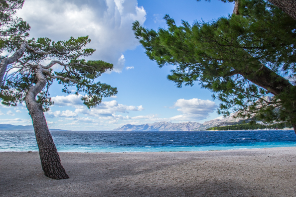 The beach at Markarska in Croatia