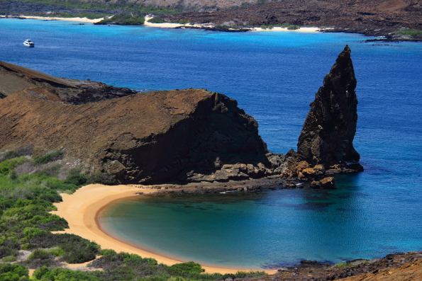 The beach on Bartolome Island Galapagos Islands