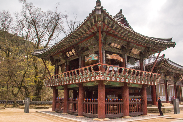 The Bell Pavilion at Tongdosa Temple in South Korea
