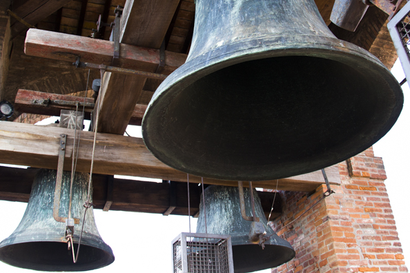 The bells in the Clock Towerr in Lucca, Tuscany in Italy