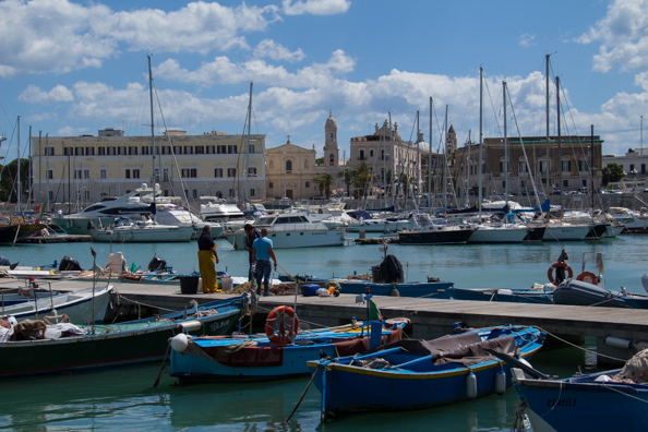 The boats are in - fishing boats in Trani  harbour in Puglia