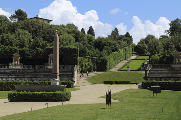 The Boboli Gardens behind Palazzo Pitti in Florence, Tuscany