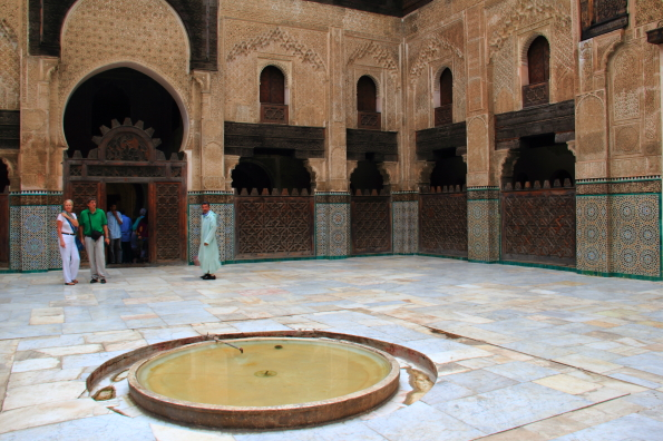 The Bou Inania Madrasa in the medina in Fez Morocco