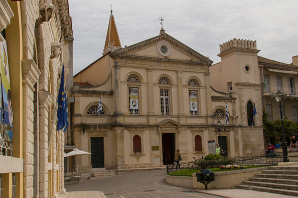 The cathedral in Corfu old town