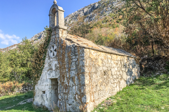 The Church of Our Lady of Health in Upper Brela, Croatia