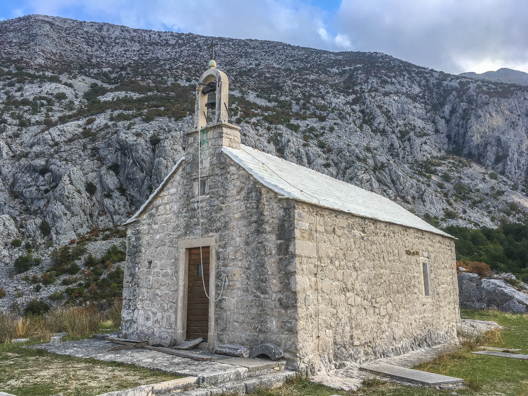 The Church of Saint Nicholas in Upper Brela on Mount Biokovo in Croatia