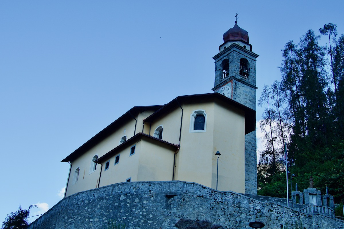 The Church of San Nicola in Carisolo, Italy