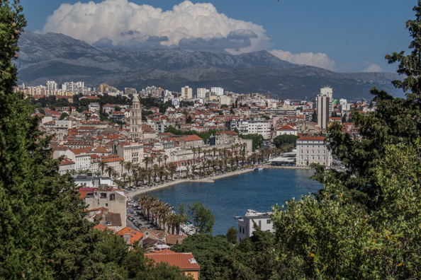 The city of Split in Croatia from Marjan Hill