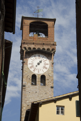 The Clock Tower in Lucca, Tuscany in Italy