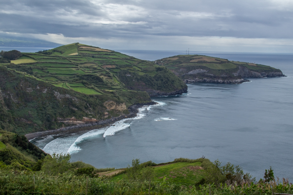 The coastline of São Miguel Island in the Azores