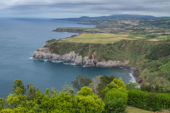 The coastline of São Miguel Island in the Azores on São Miguel Island in the Azores