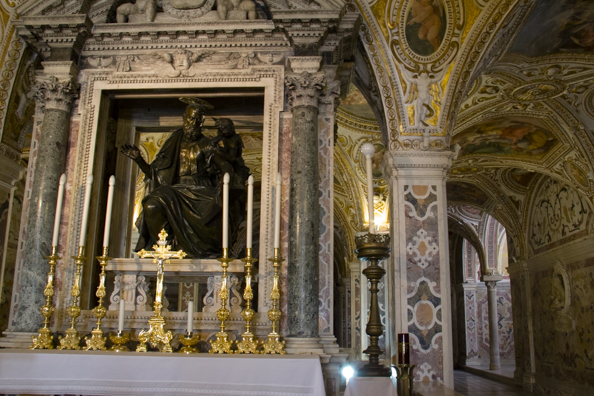 The crypt of  the cathedral of Saint Matthew in Salerno, Italy