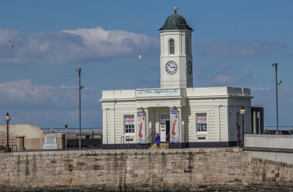 The Droit House on the harbour of Margate in Thanet, Kent
