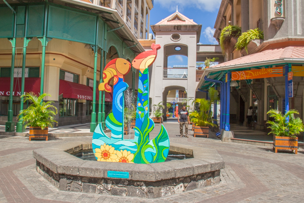 The entrance to Le Caudan Waterfront in Port Louis on Maurtius