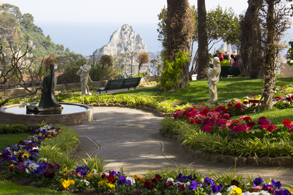 The Gardens of Augustus on the island of Capri