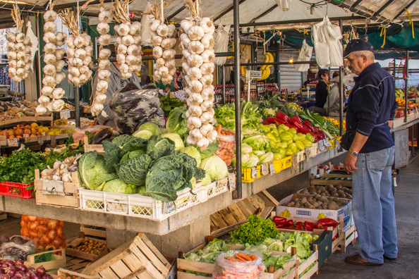 The Green Market in Makarska in Croatia