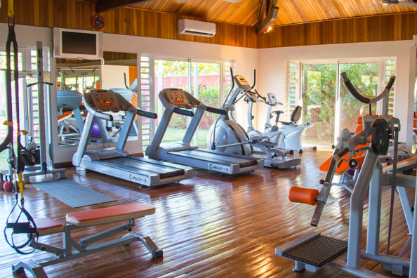 The gym at the Tamassa hotel, Bel Ombre on Mauritius