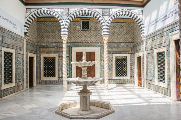 The Harem Courtyard in the Bardo Palace in Tunis, Tunisia