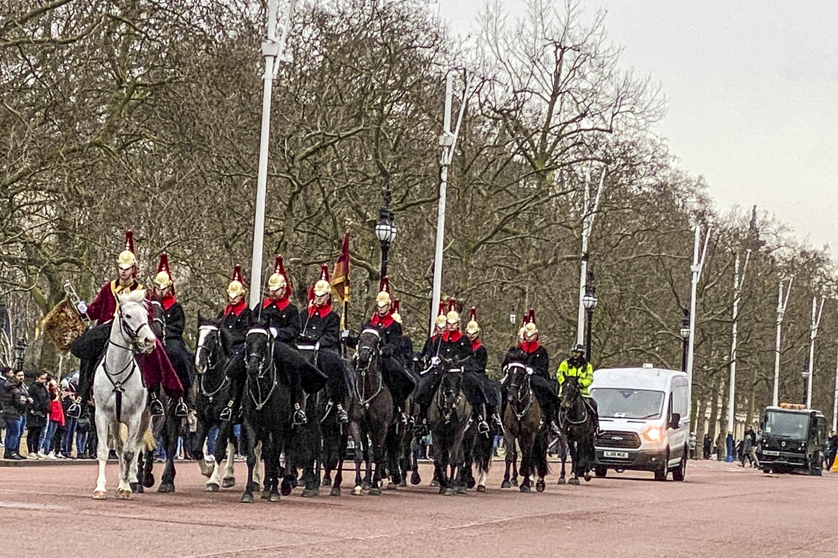 The Household Cavalry Make their Way Along the Mall in London    IMG 3966