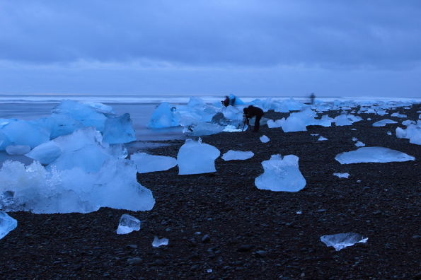 the ice beach at Jökulsárlón glacier in Iceland