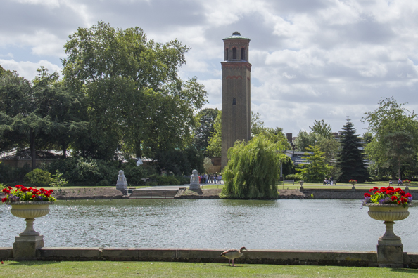 The Italianate campanile smoke stack at Kew Gardens in London