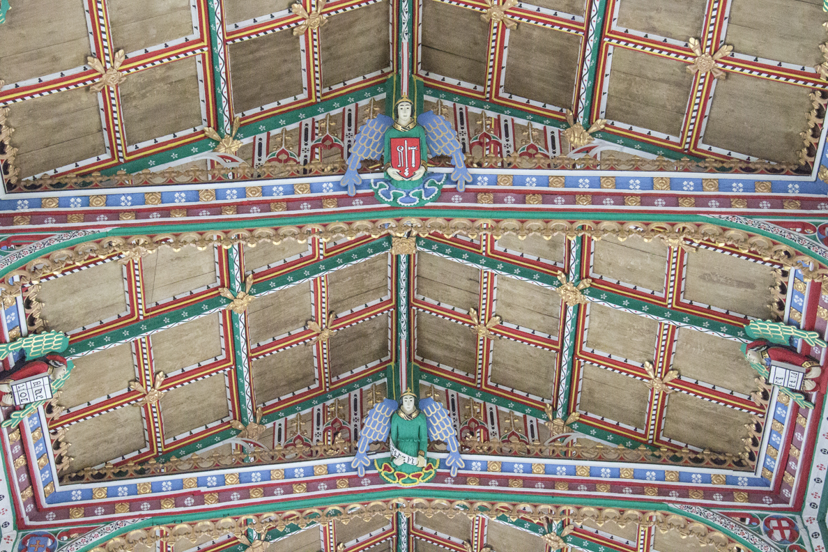 The Jacobean ceiling in the church of Saint Cuthbert in Wells, Somerset, England   5649