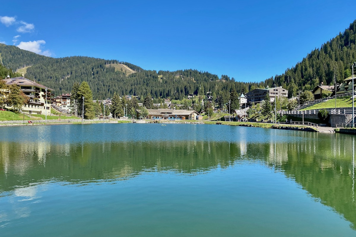 The Laghetto in the Centre of Madonna di Campiglio, Italy
