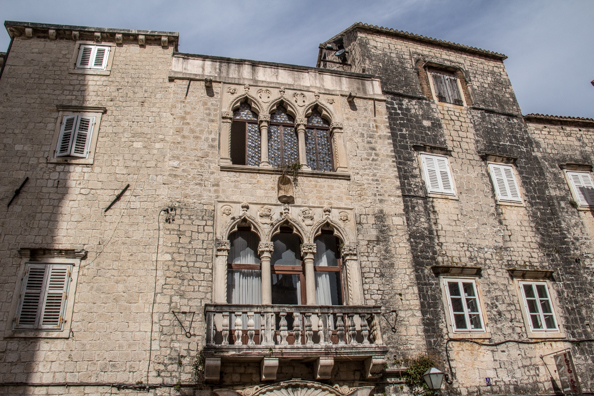 The large Cipiko palace in Trogir, Croatia
