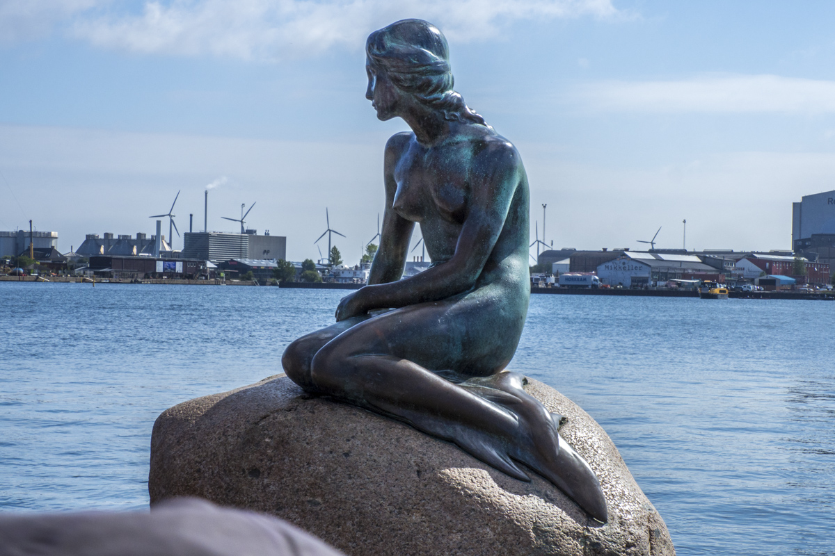 The Little Mermaid on Langelinje Pier in Copenhagen, Denmark     7234870
