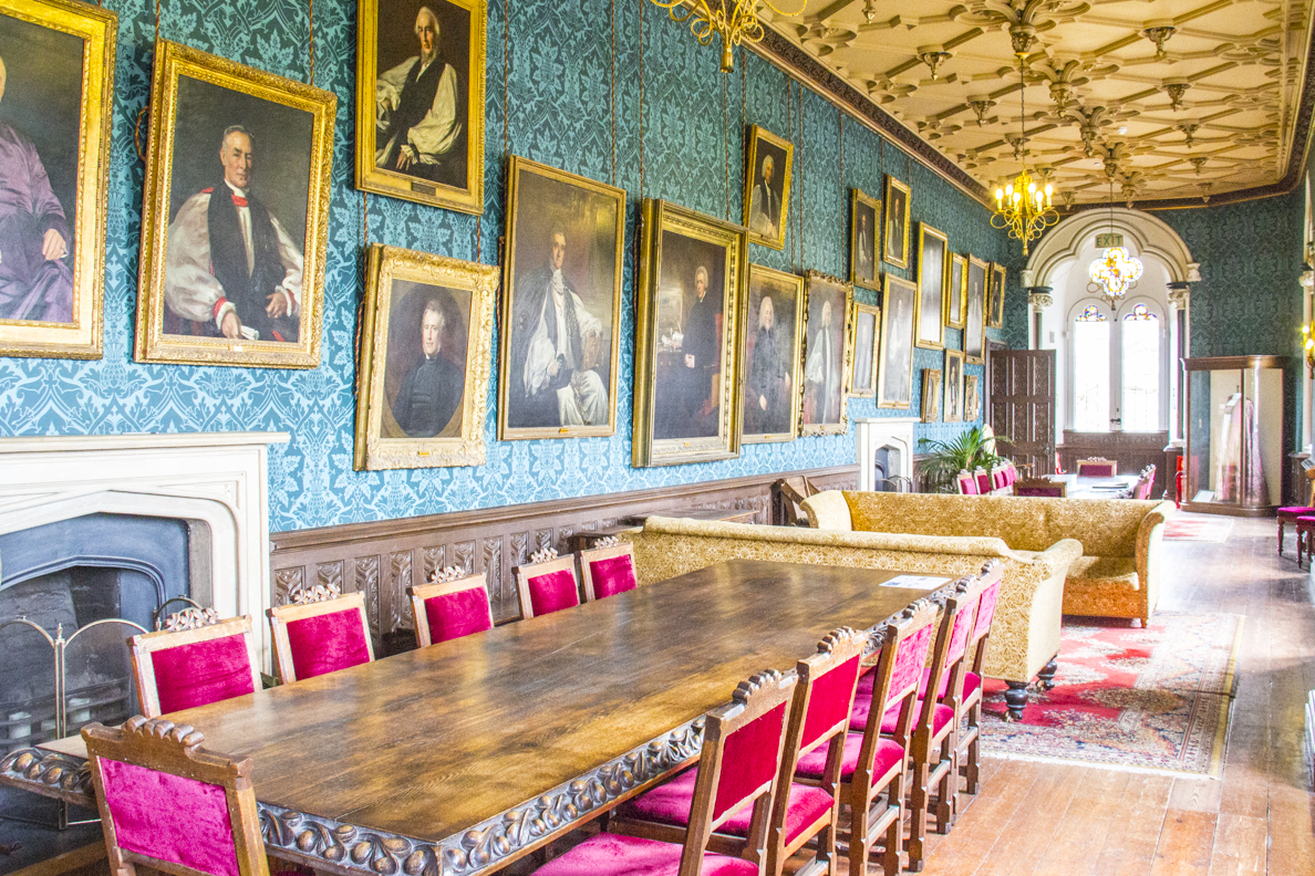 The Long Gallery in the Biship's Palace in Wells, Somerset, England   20185321