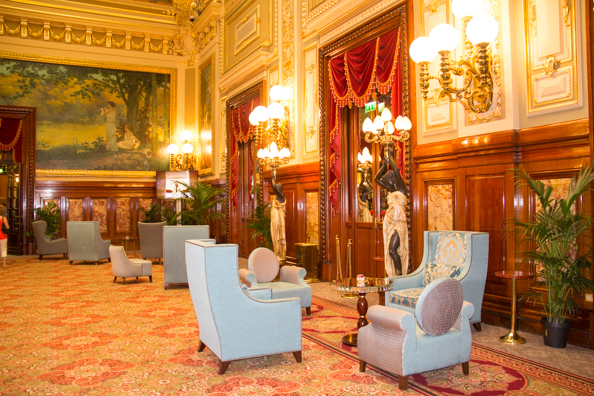 The luxurious interior of the Casino at Monte Carlo in Monaco