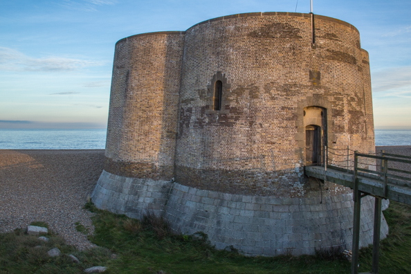 The Martello Tower in Aldeburgh in Suffolk