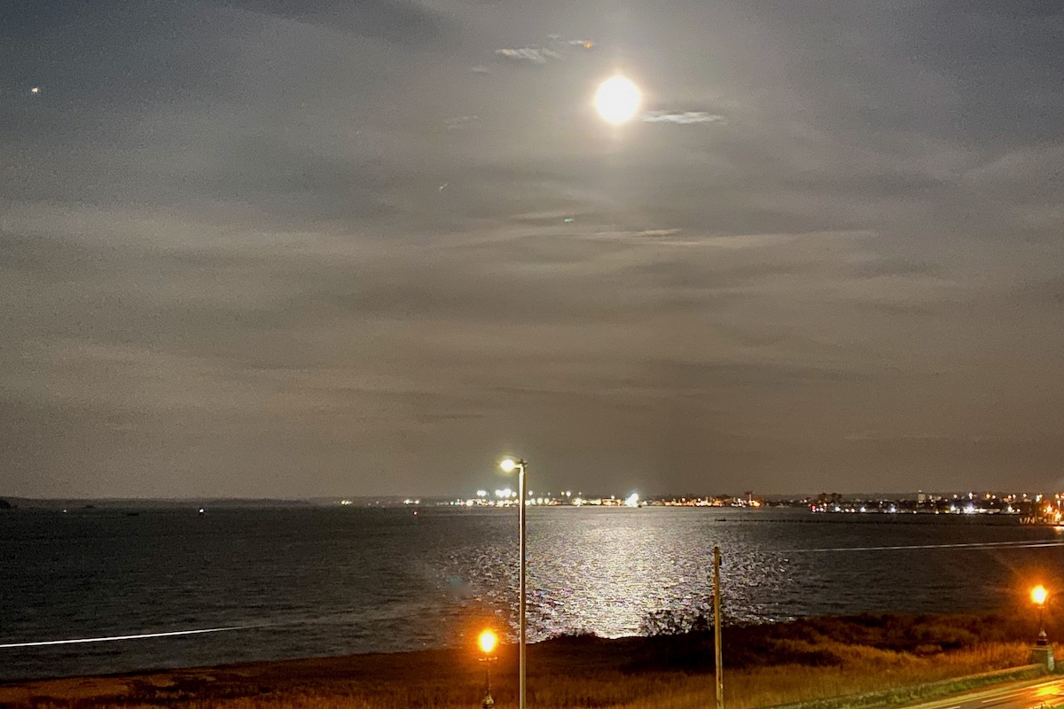 The Moon Lights up Poole Harbour, Dorset