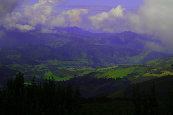 The moor of Pichincha volcano from the top of Cruz Loma Quito Ecuador