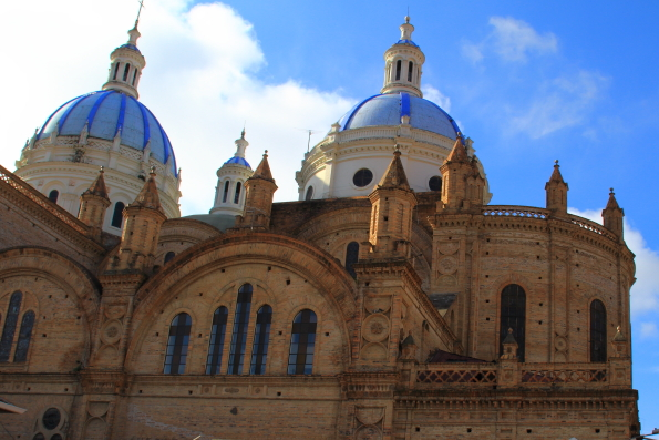 The New Cathedral in Cuenca Ecuador