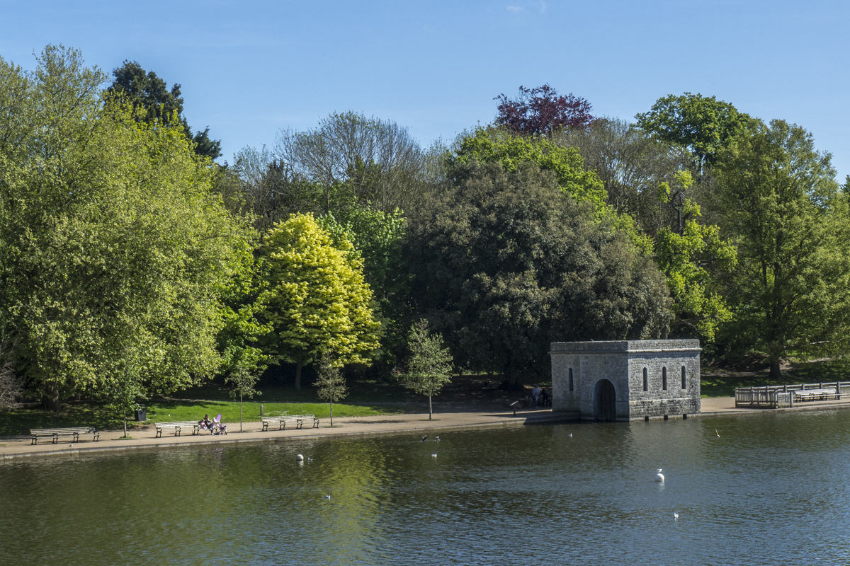 The Old Boathouse in Mote Park, Maidstone in Kent  5141314