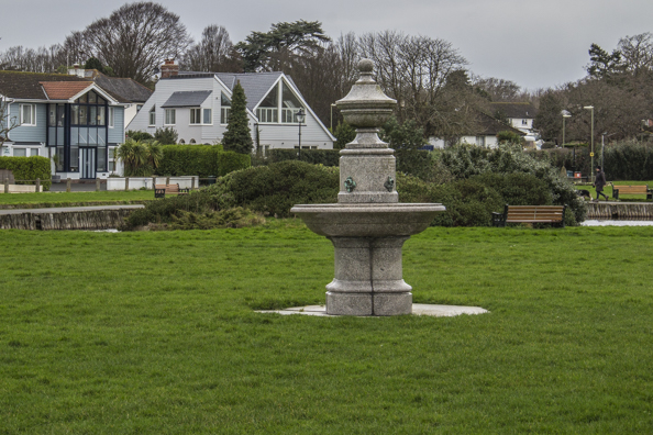 The old drinking fountain in Bath Road Recreation Ground in Lymington, the New Forest, Hampshire, UK