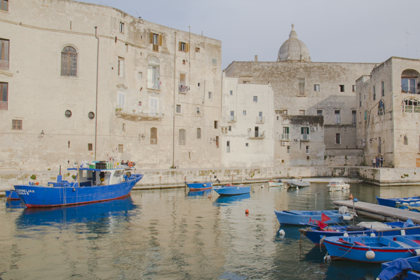 The old fishing port in Monopoli, Puglia in Italy