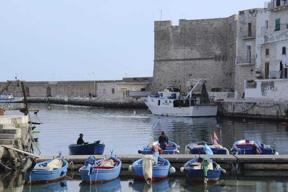 The old port in Monopoli, Puglia in Italy