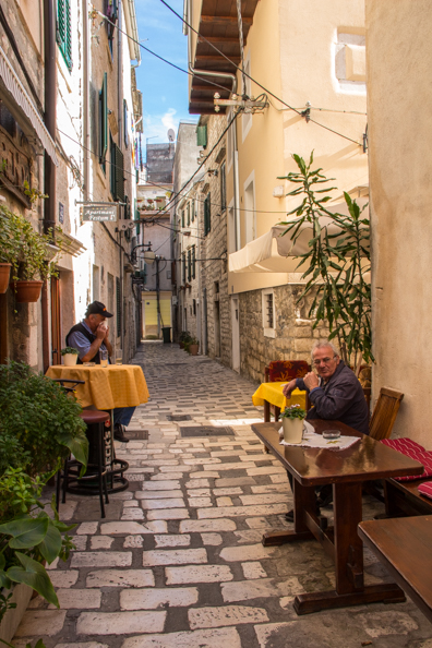 The old town of Šibenik in the Dalmatia region of Croatia