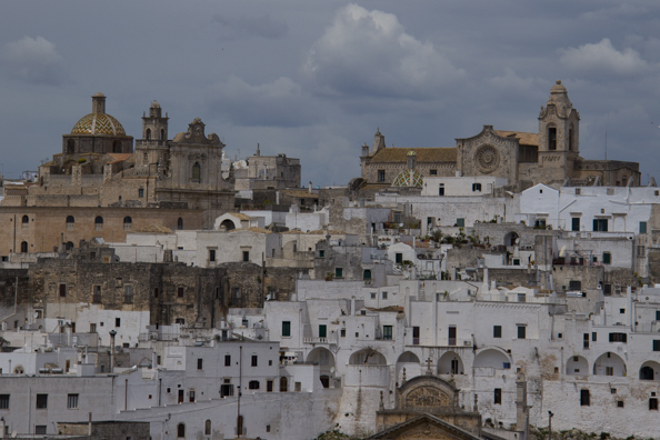 The old town of Ostunii, in Puglia, Italy