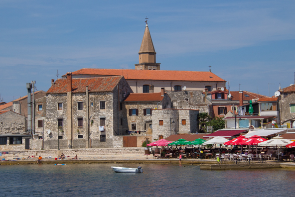 The old town of Umag on the Istrian Coast in Croatia
