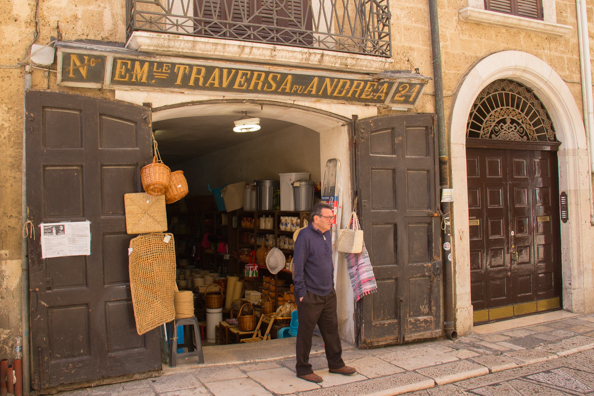 The oldest shop in the old town of Bari in Puglia-