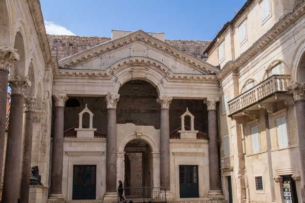 The Peristil in Diocletian's Palace in Split, Croatia