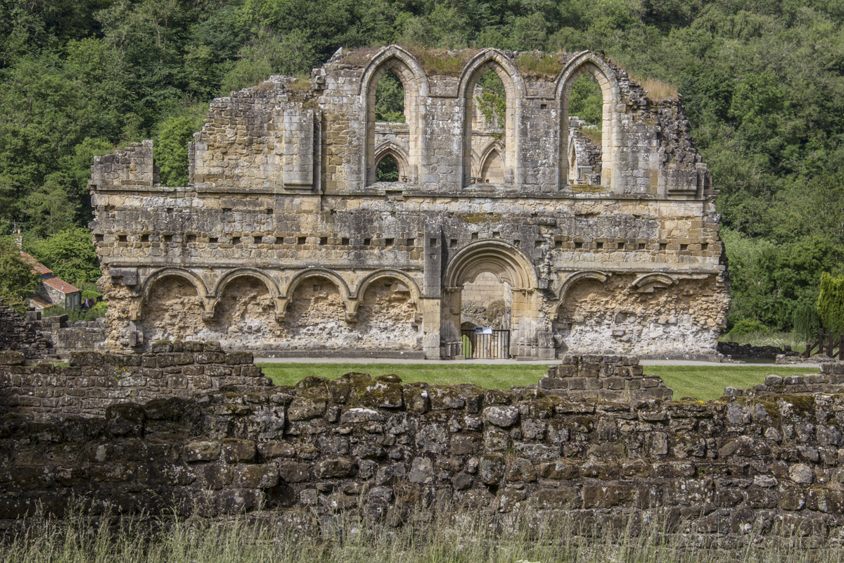 The Refectory at Rievaulx Abbey in North Yorkshire 1020