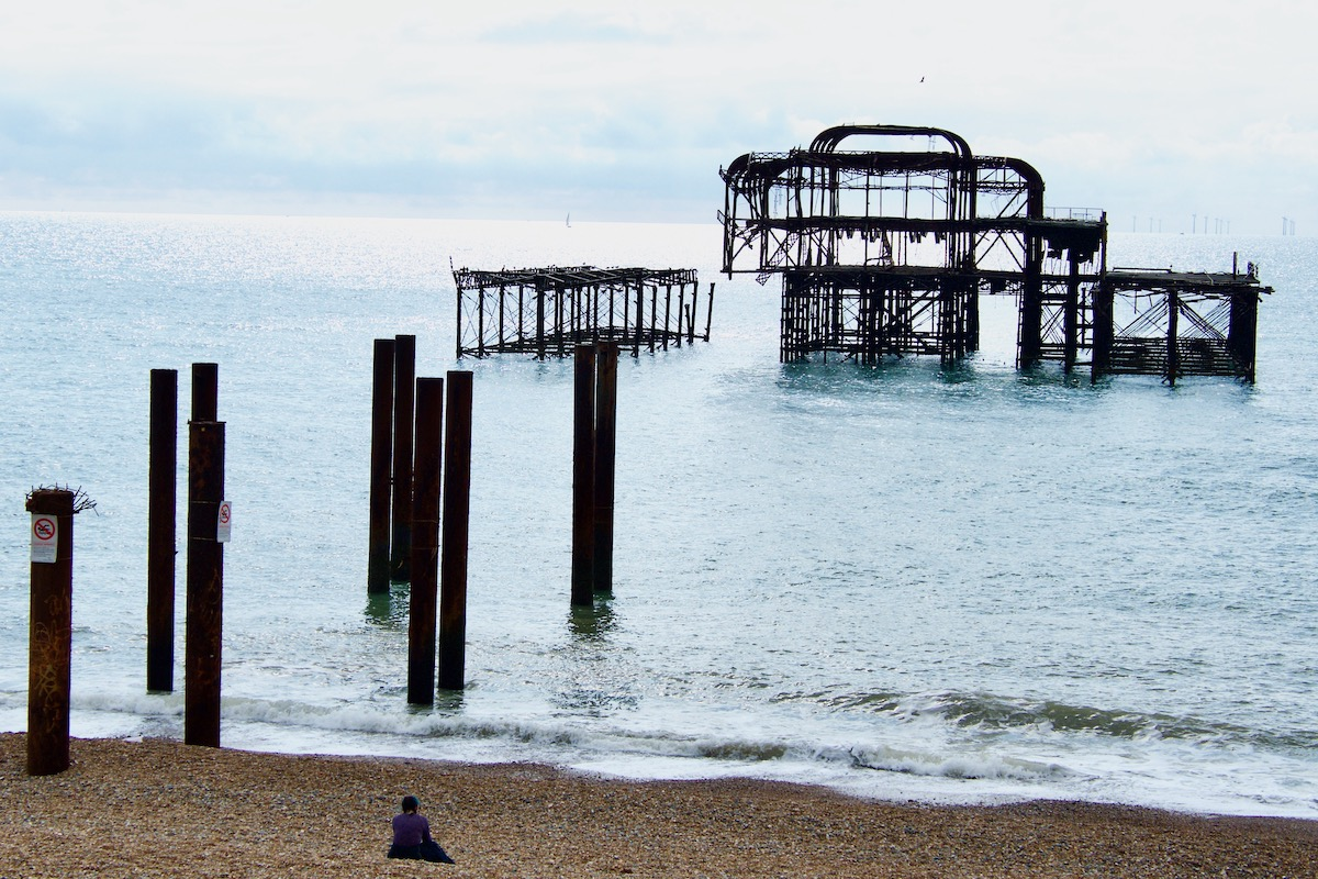 The Remains of the West Pier on Brighton Seafront