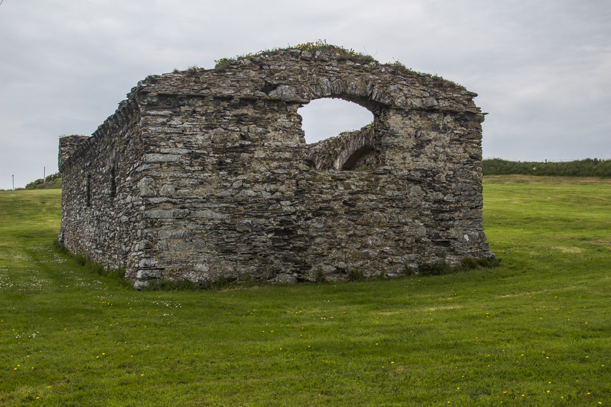 The ruins of St Justinian's Chapel at St Juntinian's on St David's Peninsula in Pembrokeshire, Wales   9172